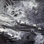 Un 8 décembre sur la place 2005 - acrylique sur canevas - 24X36 po. Collection de l'artiste