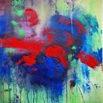 La trace 2013 - acrylique sur canevas - 14X11 po. VENDU